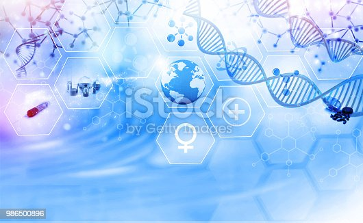 istock Medical and science background 986500896