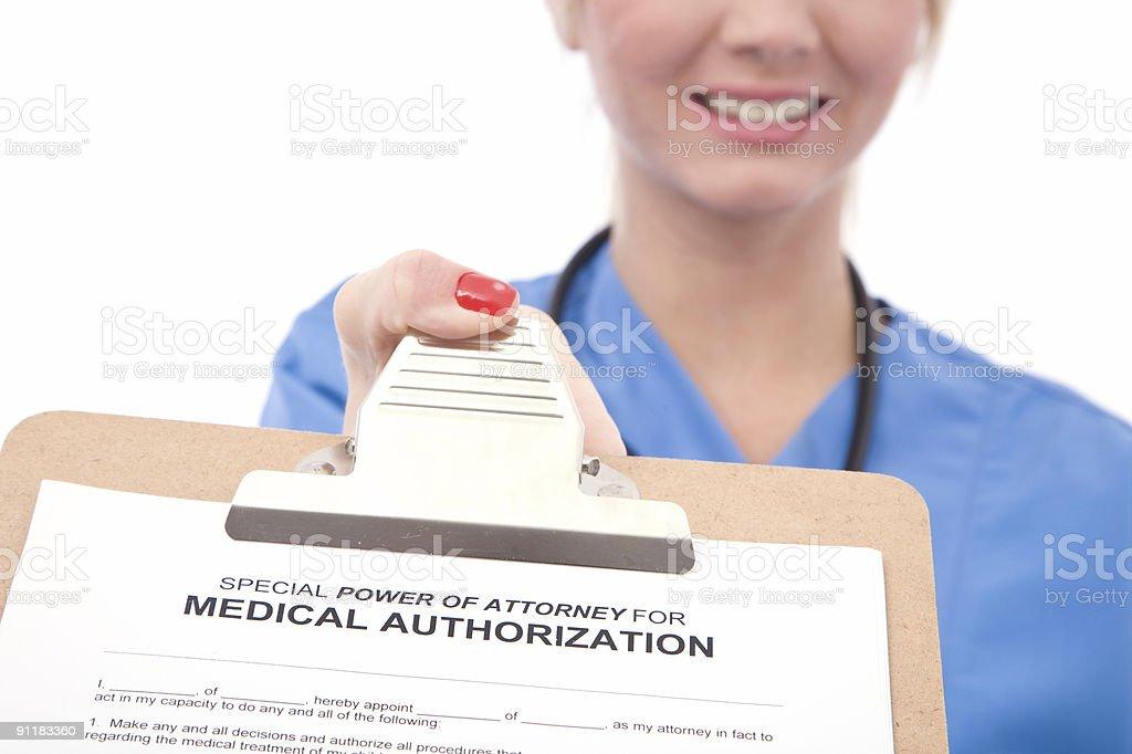 medical authorization form royalty-free stock photo
