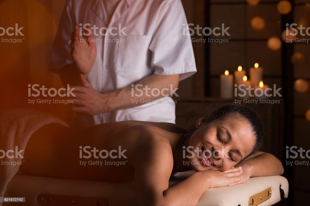 Medical back massage photo libre de droits