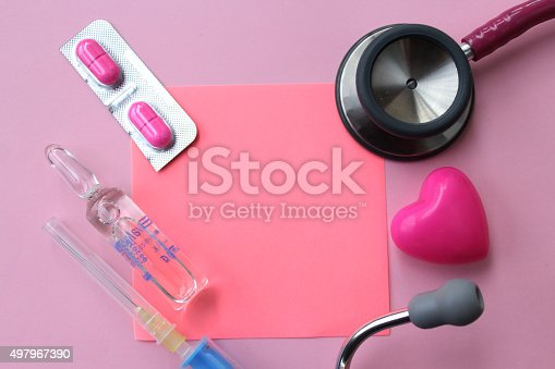 istock Medical background and copy space for text 497967390