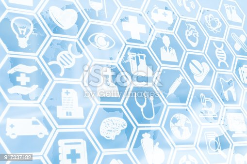 istock Medical Background, Healthcare Icon Medical Symbol 917337132
