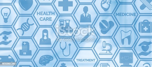 istock Medical Background, Healthcare Icon Medical Symbol 920382060