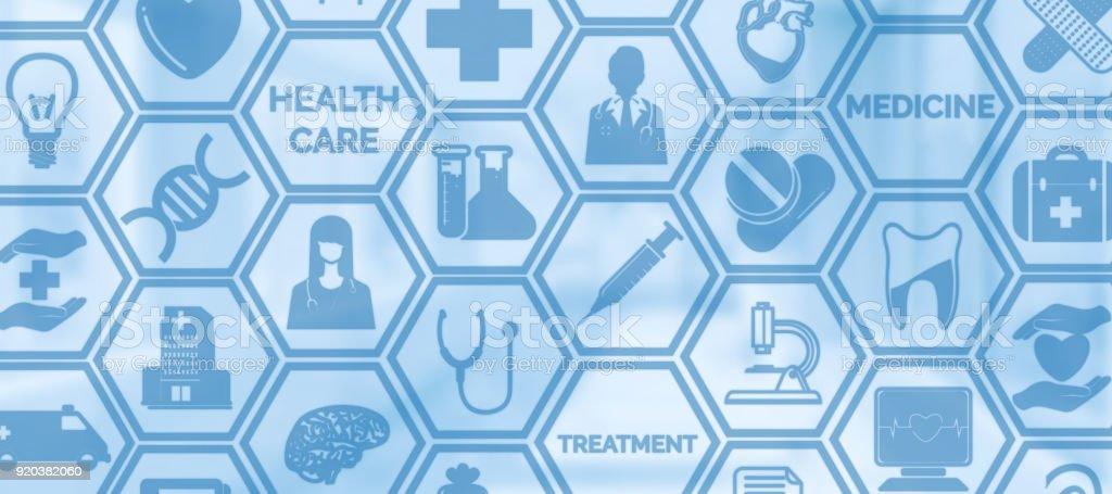 Medizinischer Hintergrund, medizinische Gesundheitswesen Symbol Symbol – Foto