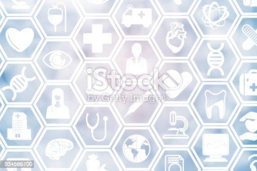 istock Medical Background, Healthcare Icon Medical Symbol 934566700