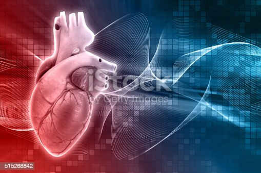 istock 3D medical background with heart 515268842