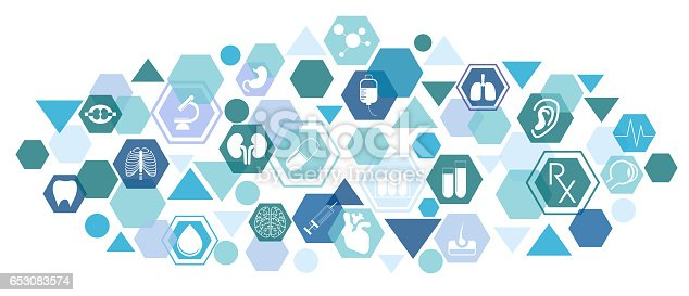 istock Medical background with icons 653083574