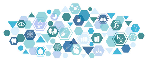 Medical background with icons - foto stock