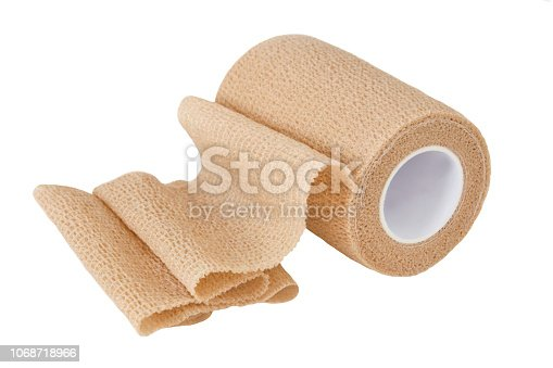 Blue Medical Bandage against white background