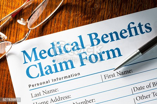 istock Medical Benefits Claim form 527839811
