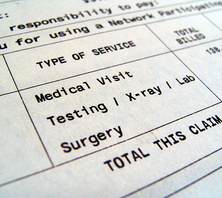 Medical Bills For Separate Types Of Services Stock Photo - Download Image Now