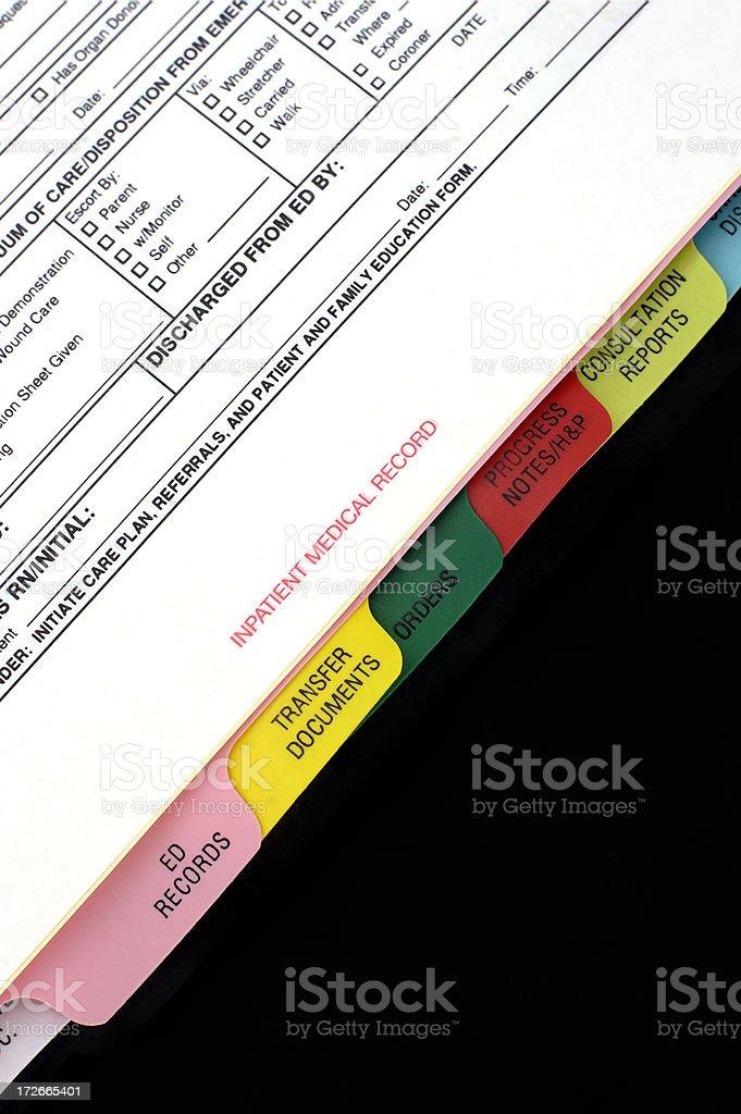 medical binder royalty-free stock photo