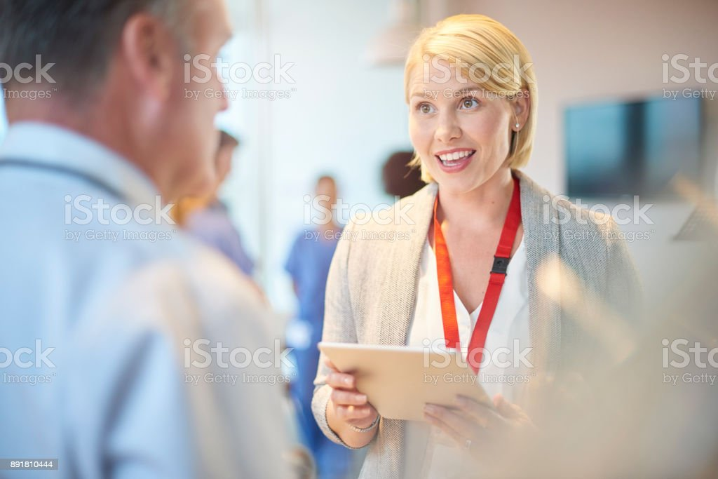 medical business chat stock photo