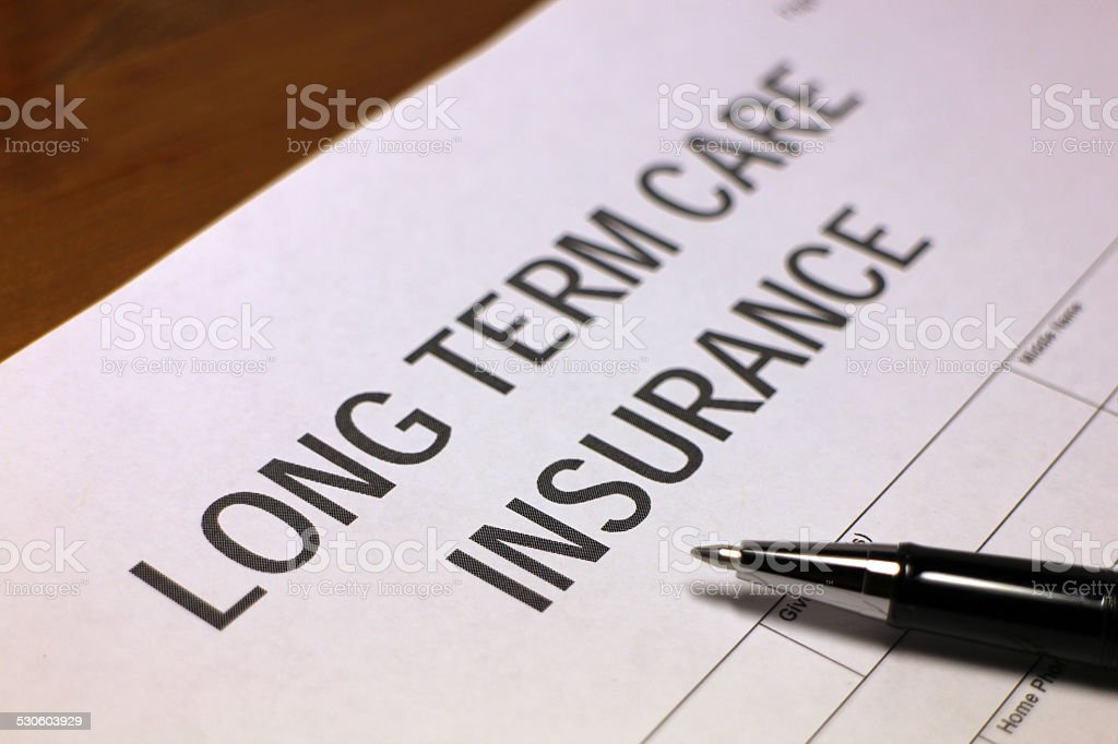 Medical Care Insurance Form stock photo