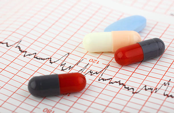 medical chart and pills - medical diagrams stock pictures, royalty-free photos & images