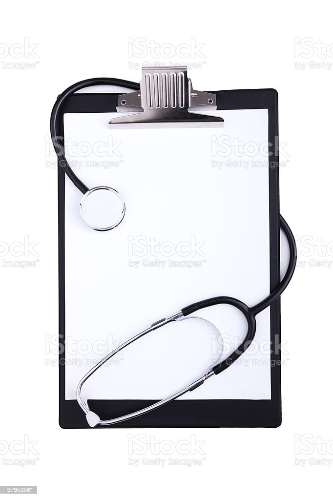 Medical clipboard royalty-free stock photo