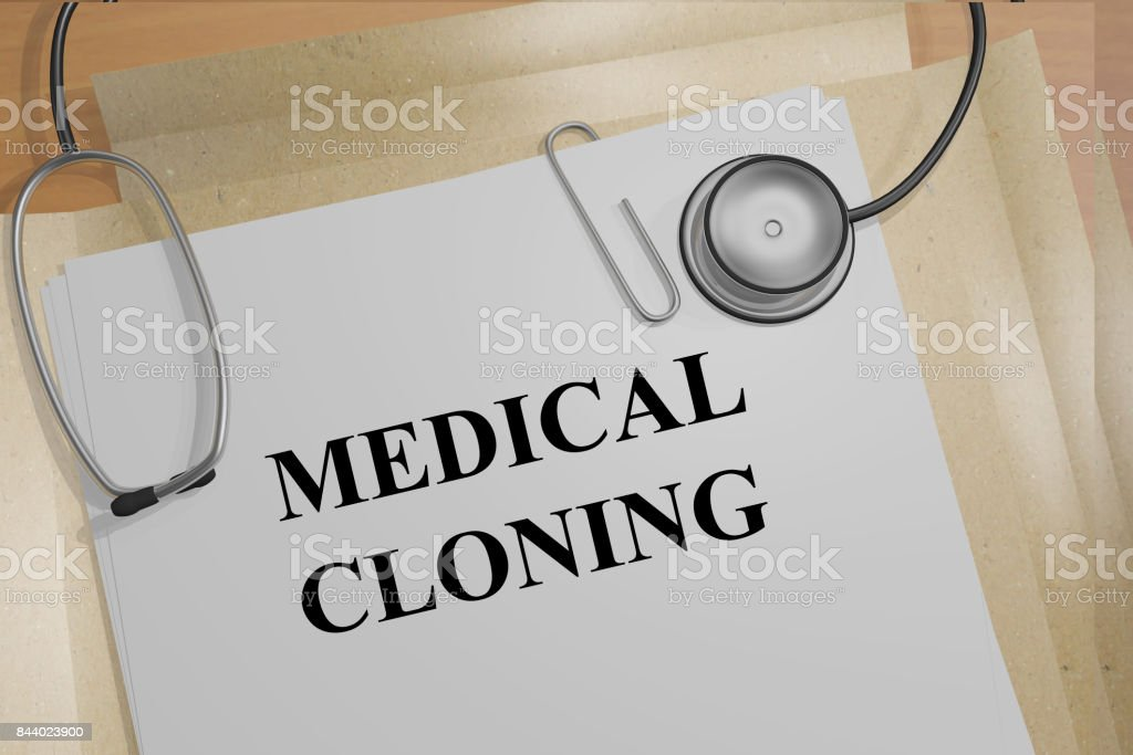 Medical Cloning concept stock photo