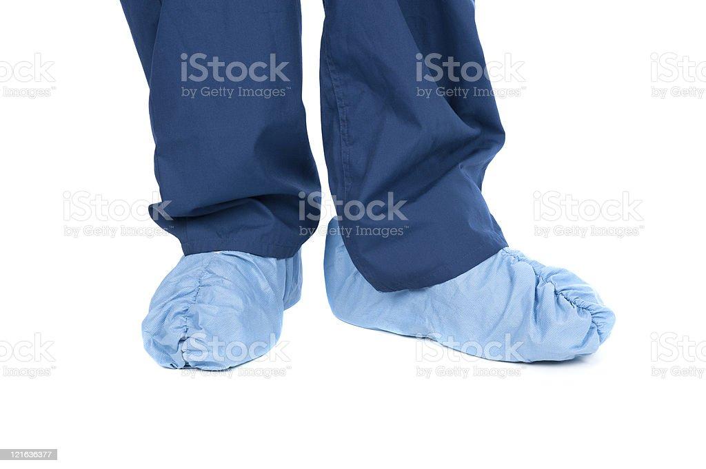 Medical clothing  Blue Stock Photo