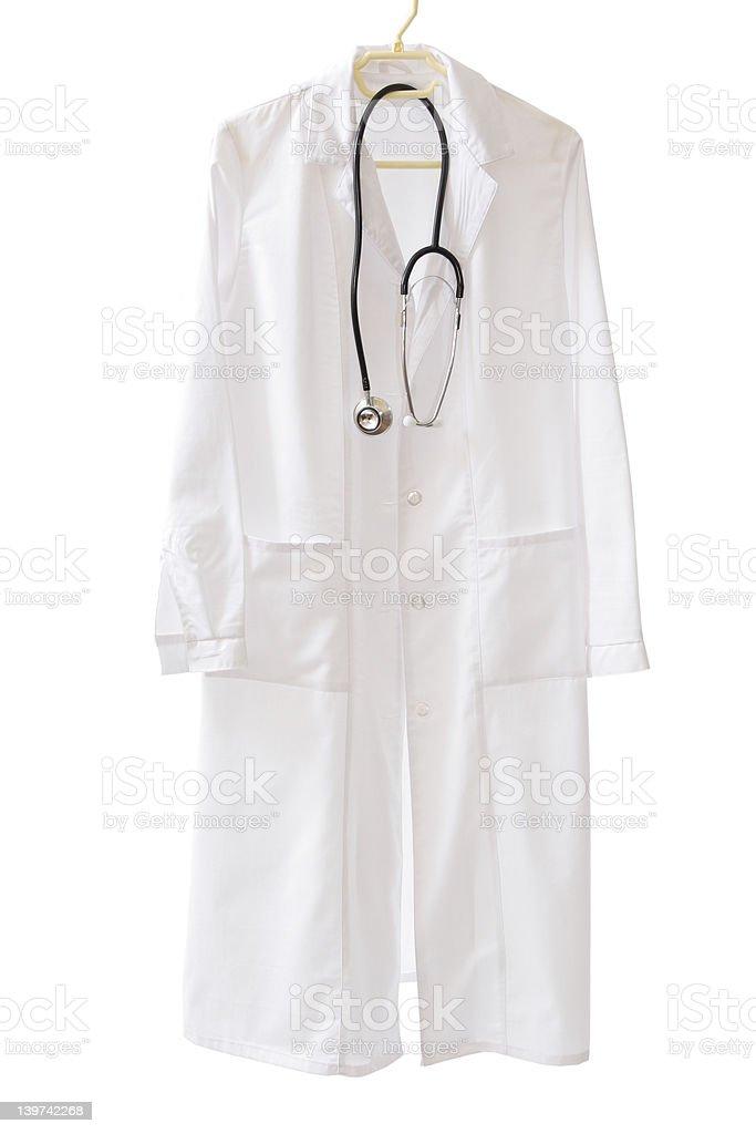 Medical coat ready to go stock photo