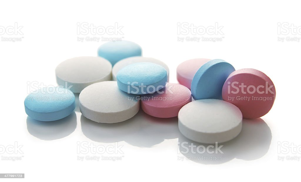 Medical colored pills royalty-free stock photo