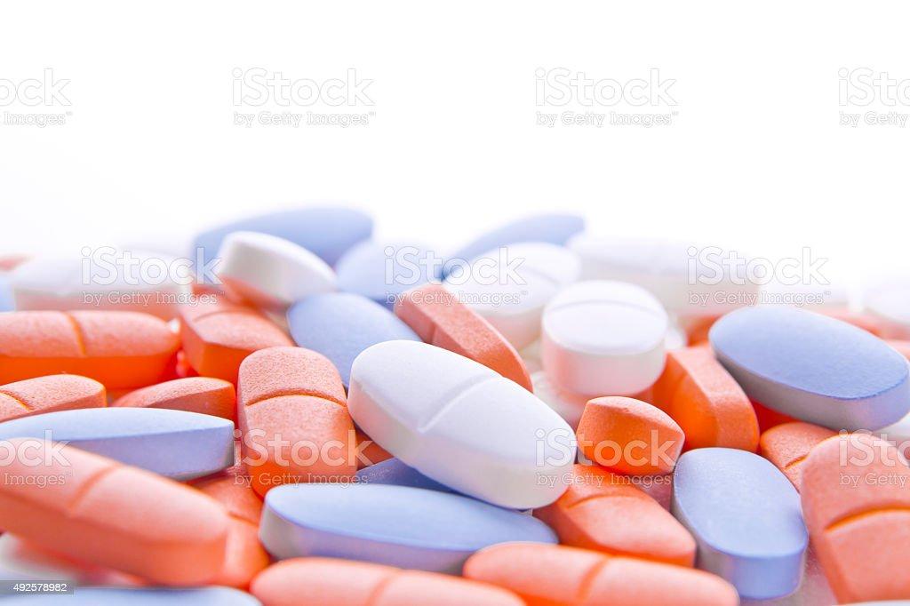 Medical: Colorido pastillas - foto de stock