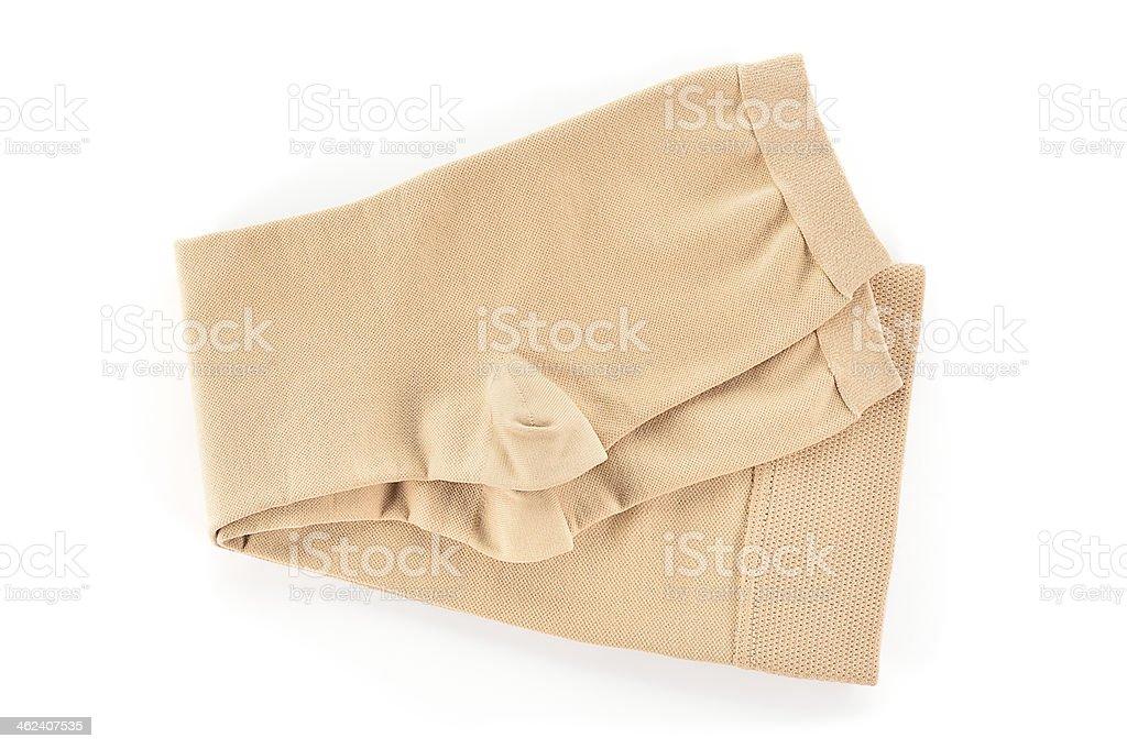 Chaussettes de compression médicaux sur fond blanc. - Photo