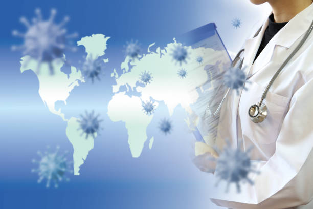 Medical concept Global epidemics and treatment stock photo