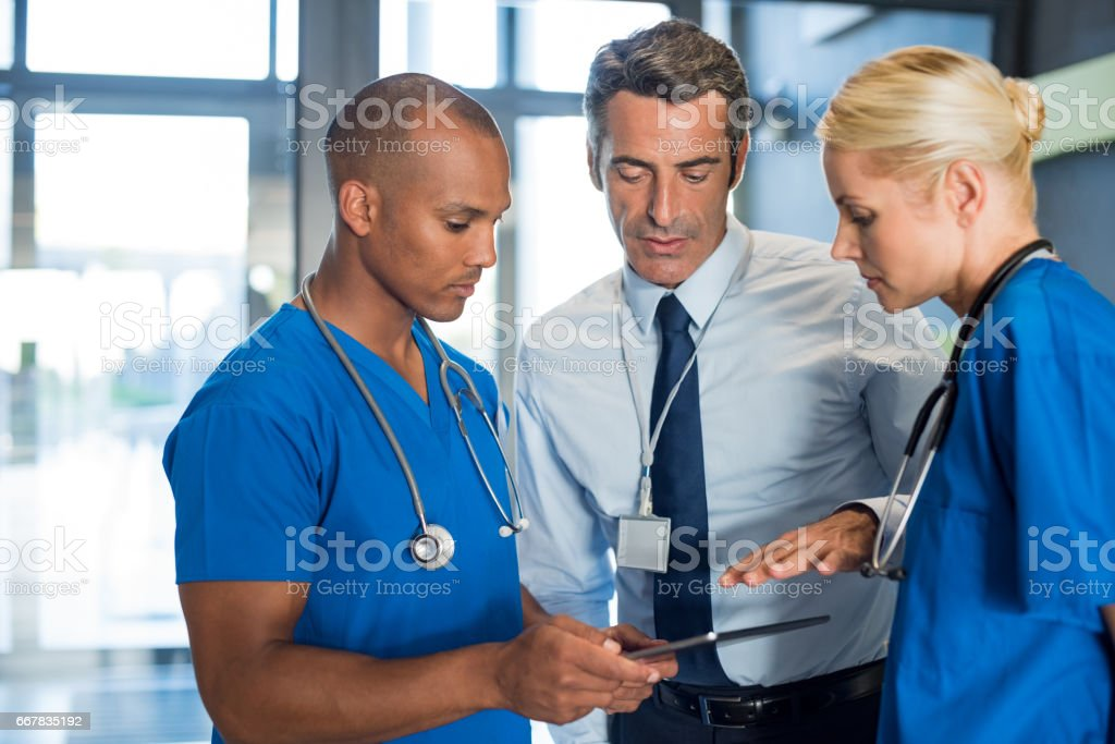 Medical conference stock photo