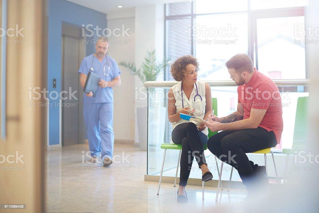medical consent signature stock photo