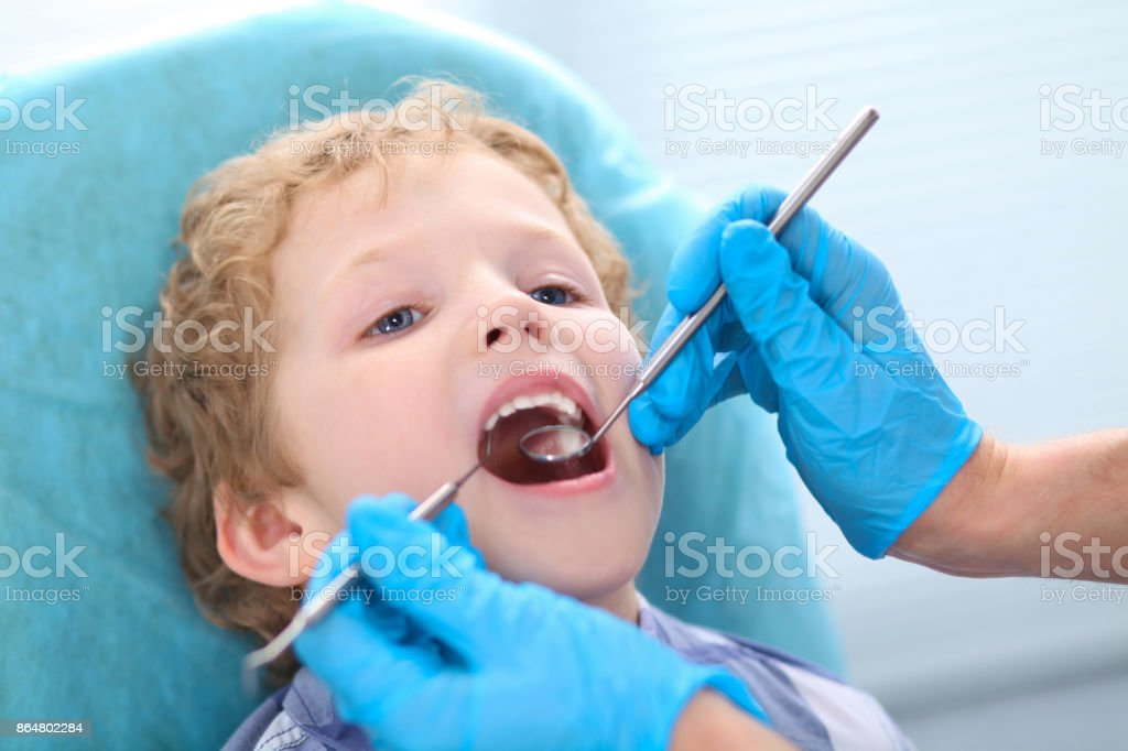 Medical Cure And Tests Advertisement Concept Pediatric Dentist