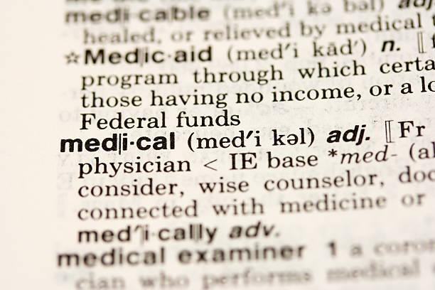 medizinische definition - definition krankheit stock-fotos und bilder