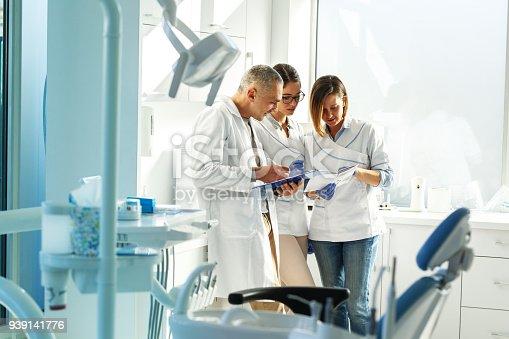 istock Medical dentist team in dental office 939141776