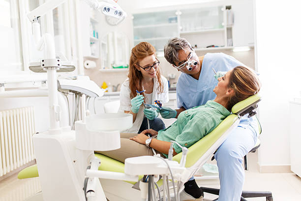 Medical dentist team stock photo