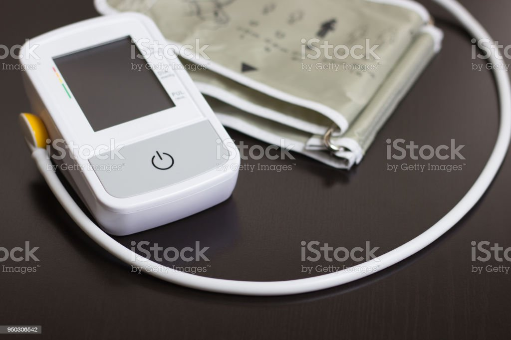 Medical device: electronic tonometer close-up stock photo