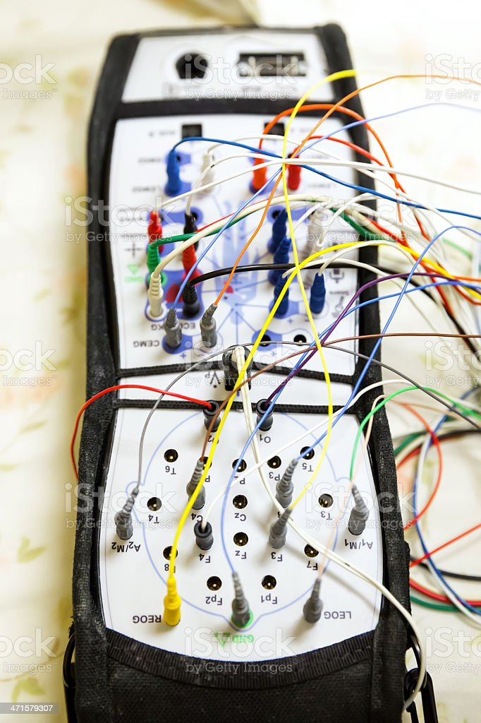 Medical device used in testing for a sleep study royalty-free stock photo