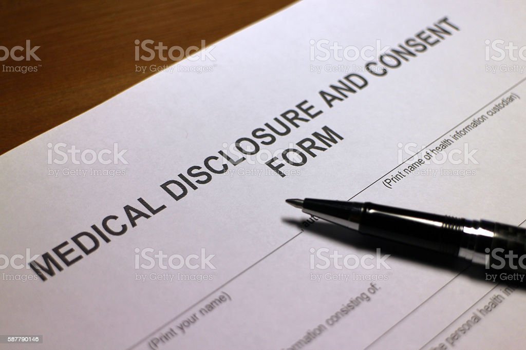 Medical Disclosure stock photo
