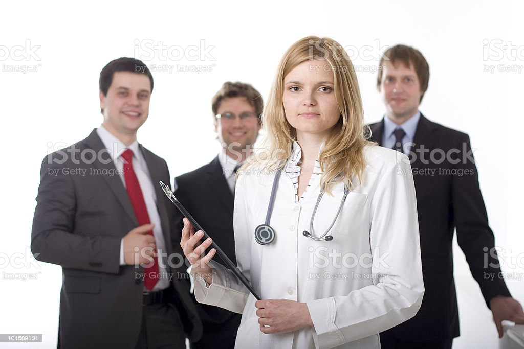 Medical doctor and the administration royalty-free stock photo