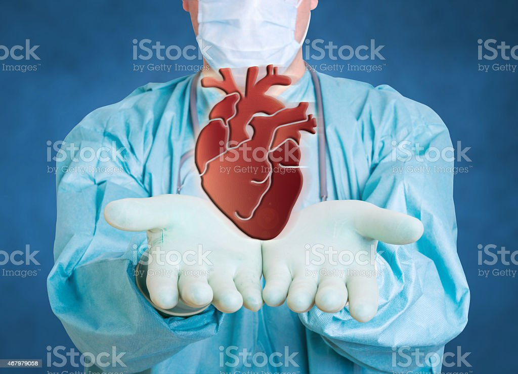 medical doctor cardio heart stock photo
