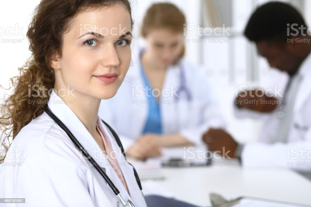 Medical doctor woman ready to help patients. Medicine and health...