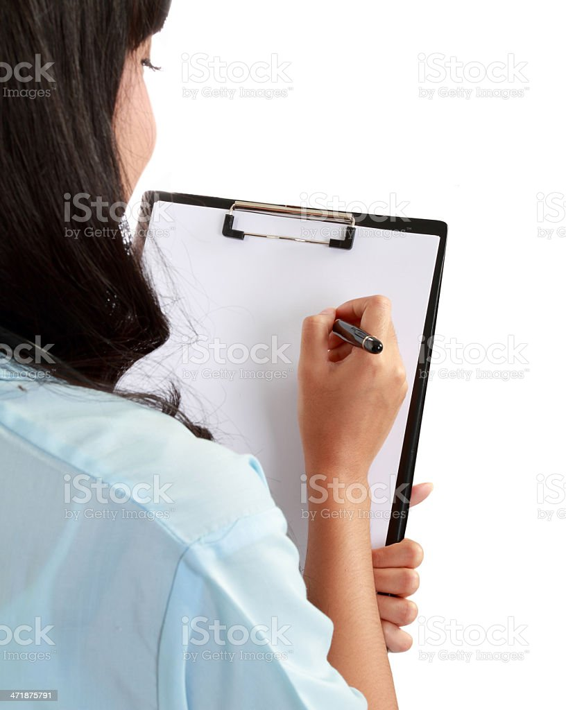 medical doctor woman taking notes. royalty-free stock photo