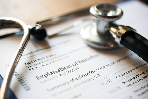 Medical documents stock photo