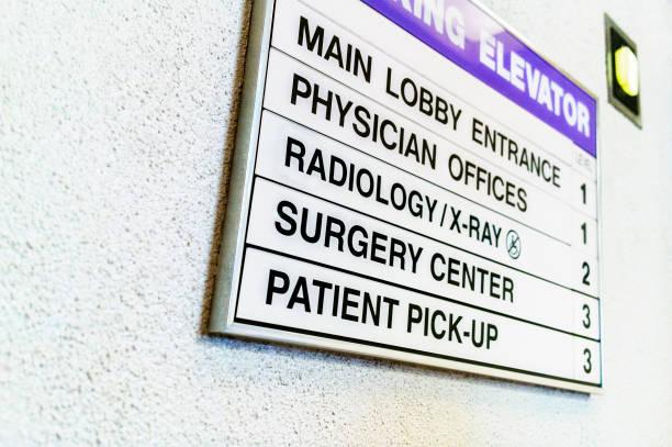 Medical Elevator Sign stock photo