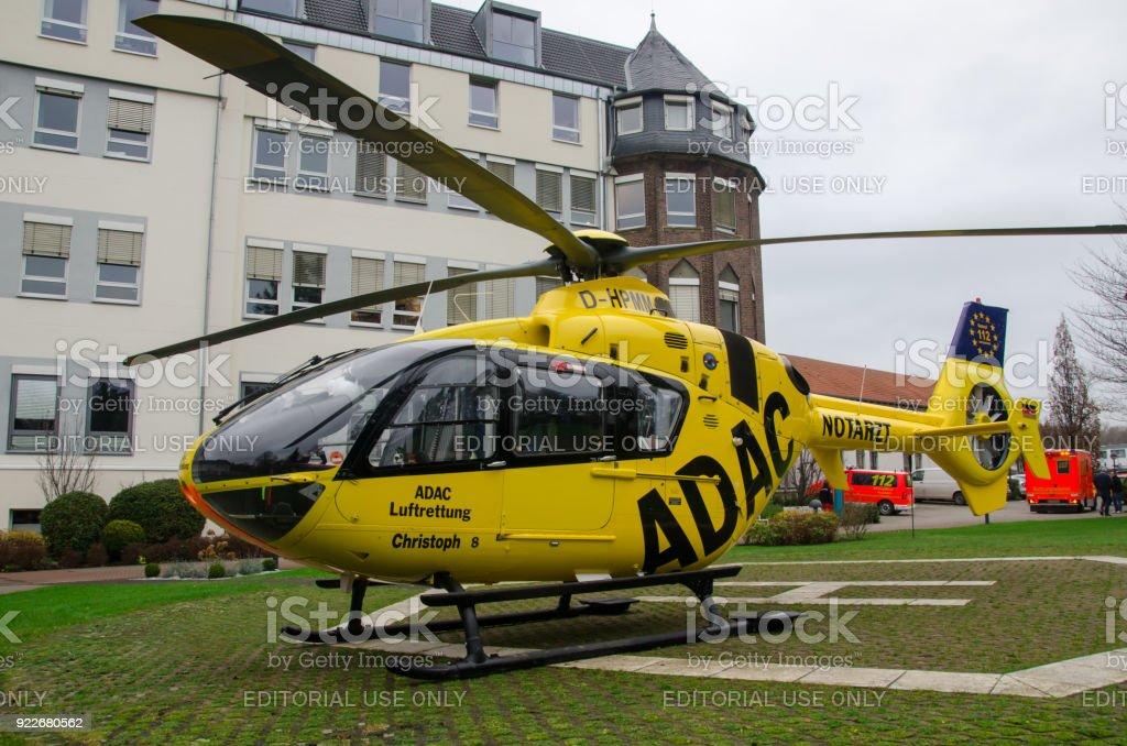 Medical emergency helicopter Eurocopter EC