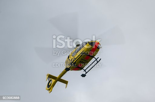 istock ADAC Medical emergency helicopter (Luftrettung) Eurocopter EC-135 P2 922680888