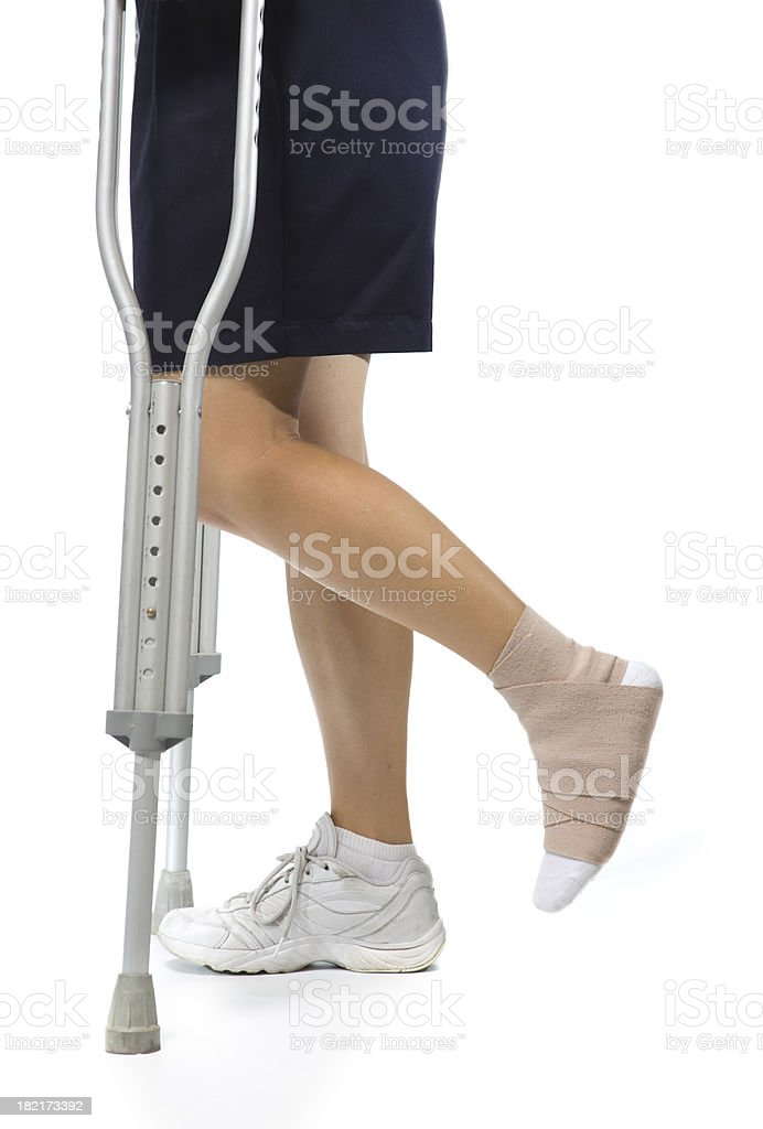 Medical Equipment Crutches stock photo