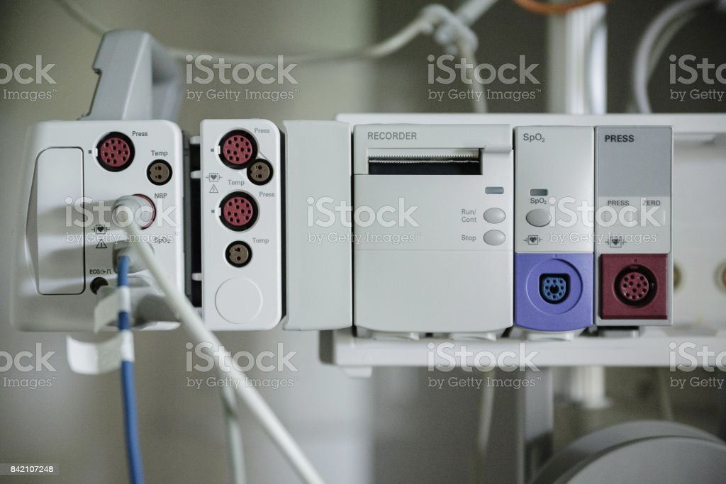 Medical equipment for patient care in a hospital stock photo