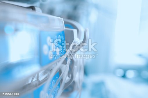 istock Medical equipment in the ICU ward 519547190
