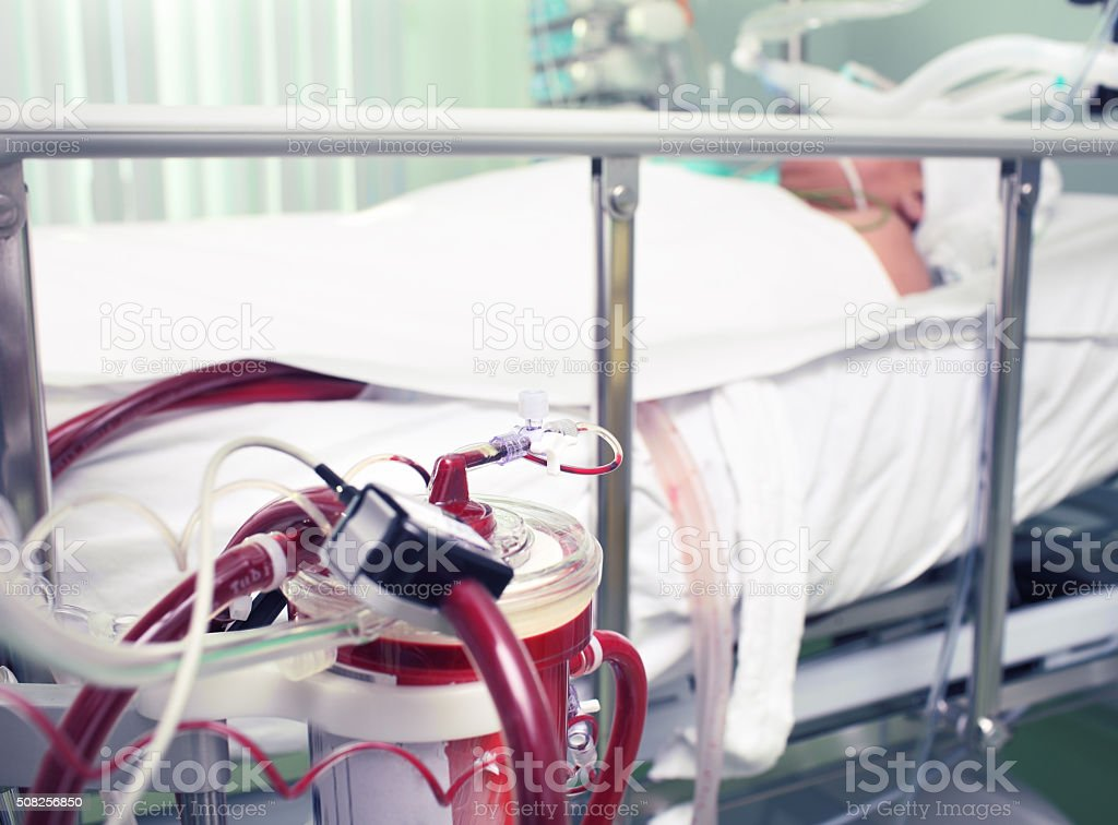 Medical equipment in the work stock photo