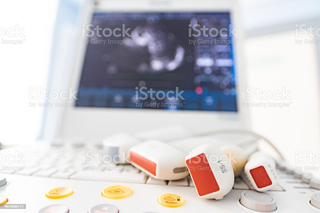 Medical equipment, ultrasonic scanner royalty-free stock photo