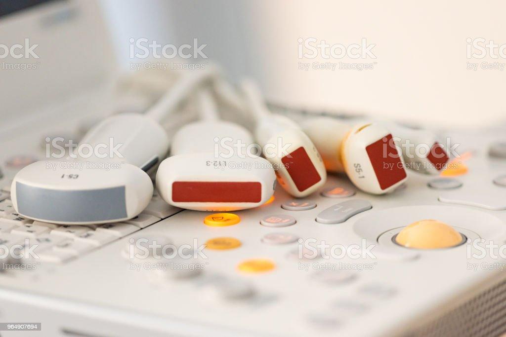 Medical equipment, ultrasonic scanner royalty-free stock photo