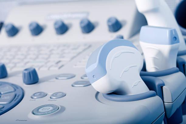 medical equipment, ultrasound machine closeup - ultrasound stock photos and pictures